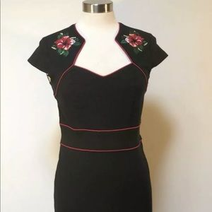 Hell Bunny Vixen Black wriggle dress